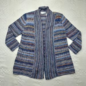 Alfred Dunner PL multi color Open Cardigan Sweater